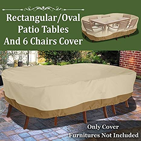Amazon Com Benefitusa Rectangular 130 L Table Chair Cover Patio