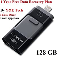 128 GB New USB i-Flash Drive Device Memory Stick OTG For iPhone iPod IOS Android (Black)