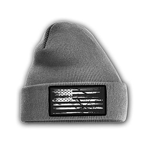 DURO threads American Flag Gray Beanie With USA Flag Patch (Beanie Asap)