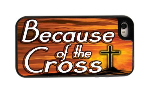 Because the Cross - Best 3 in 1 cell phone case for iPhone 4, 4S - Black (Adidas Iphone 4s Case)