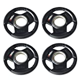Body Power Rubber Enc Tri Grip OLYMPIC Weight Disc Plates- 1.25Kg (x4)