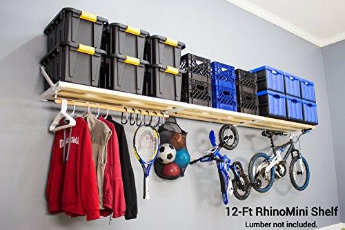 DIY RhinoMini Shelf Kits for Garages & Other Applications (12' Length; 20'' Width) by RhinoShelf.com