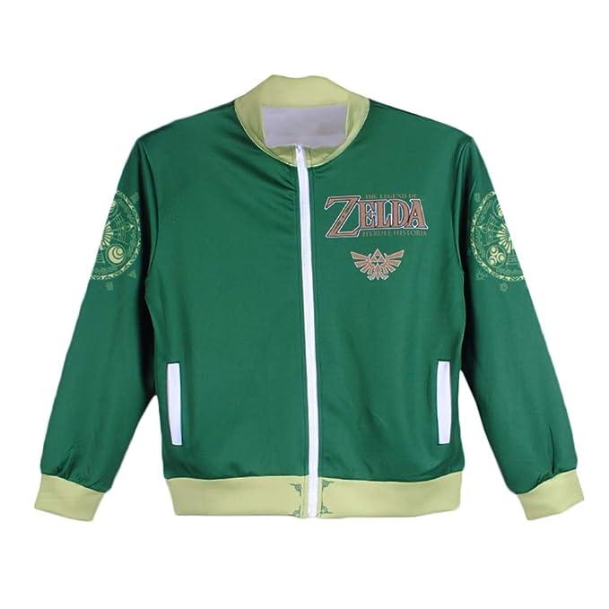The Legend of Zelda Unisex Fashion Estampar Chaqueta de Beisbol Ocasionales Personalidad Sudaderas para Mujeres y Hombres Otoño Chaqueta de Beisbol: ...