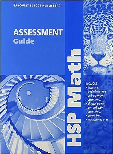 Amazon Com Hsp Math Assessment Guide Grade 6 9780153568275 Harcourt Books