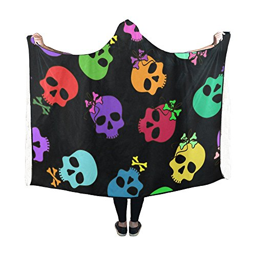hooded blanket gothic sugar skull