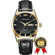 #LightningDeal 85% claimed: BRIGADA Swiss Watches Classic Gold Black Waterproof Sport Watch for Men Boys