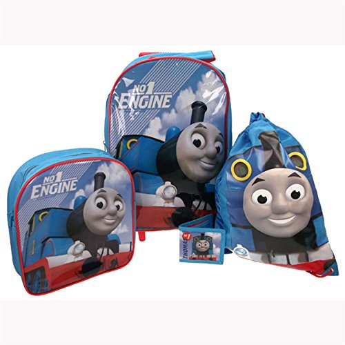 Collection 4 Piece Luggage Set (Thomas & Friends 4 Piece Luggage Set - Trolley Bag, Backpack, Swim Bag and Wallet)