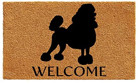 Calloway Mills AZ105552436 Poodle Doormat, 24 x 36 , Natural Black