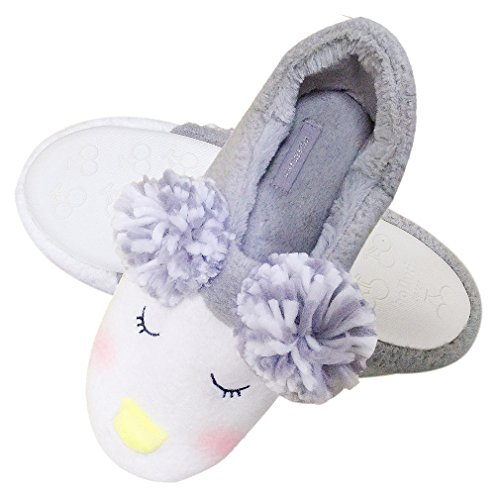 Warm 1 Slippers Sole Gray Slip Fun Cozy Plush Women Anti Slippers Animal Shoe Foam Cute Memory Indoor House Fuzzy Plush Slippers Home xwAH7Yq1R
