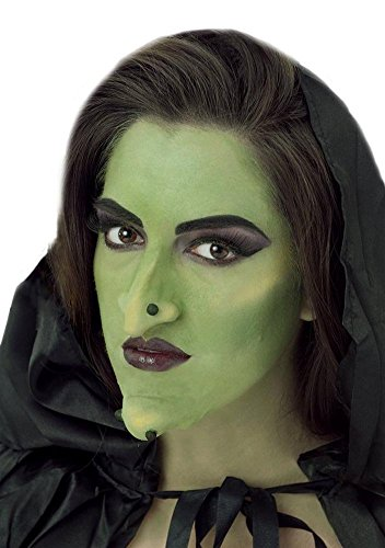 Adult Beige Skin Latex Prosthetic Witch Goblin Nose And Chin -