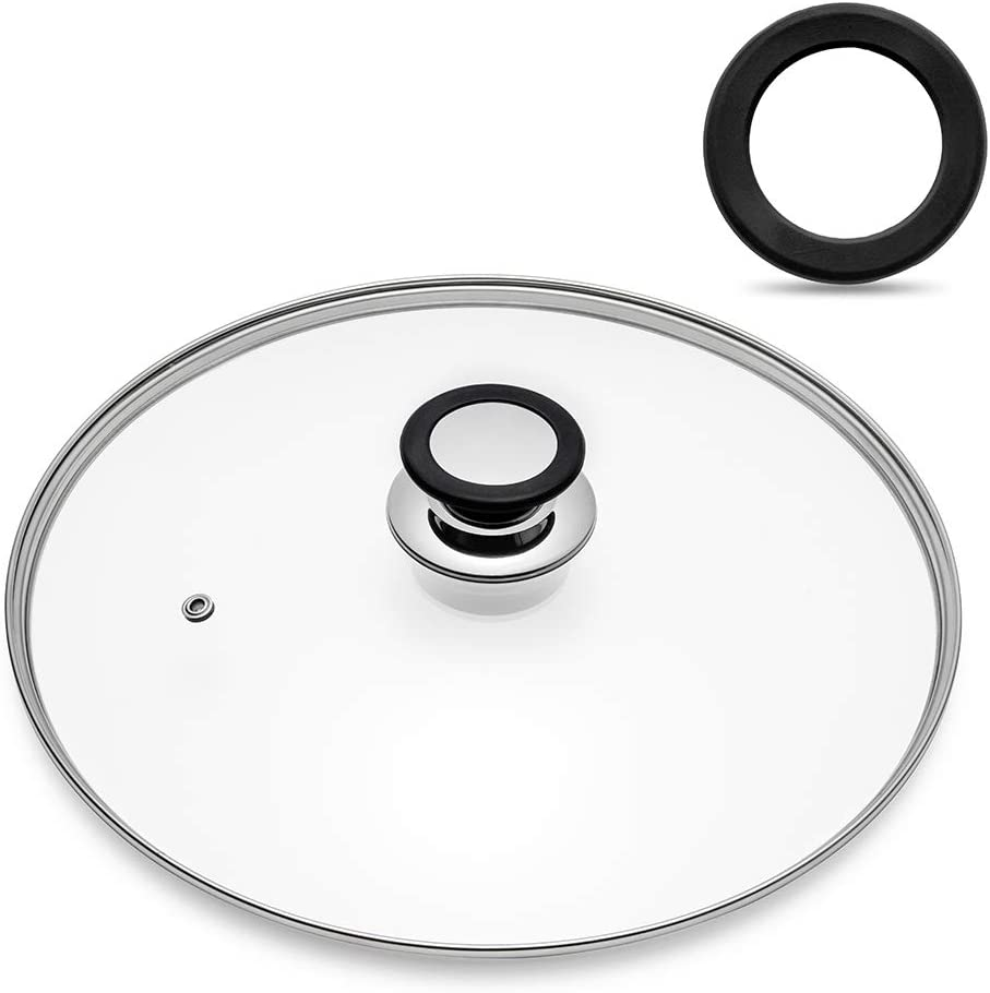 Tempered Glass Lid with Heat Resistant Handle,10.5
