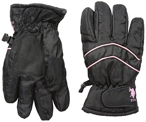 us-polo-assn-big-girls-ski-gloves-black-pink-one-size