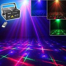 SUNY Laser Red Green Gobos Blue Stars Projector Light Show DJ Equipment Party Xmas Halloween Indoor Decorative