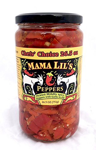 Mama Lils Original Mild Goathorn Peppers, Large Jar (26.5 oz)