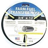 "Apache 98108455 3/4"" x 12' Farm Fuel Transfer Hose with Static Wire"