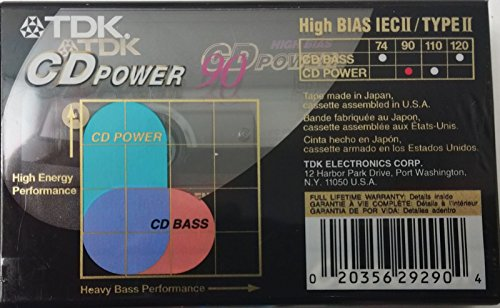 TDK CD Power 90 High Energy Performance Audio Cassette Tapes - 3 Pack by TDK (Image #2)