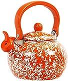 Calypso Basics By Reston Lloyd Whistling Teakettle, 2 quart, Orange Marble