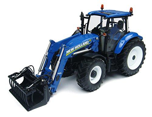 Universal Hobbies - UH4274 - Tracteur - New Holland T5.115 Avec Fourche Avant - Echelle 1/32 - Bleu