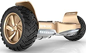 EPIKGO Premier Series Electrical Self Balance Board / Balancing Scooter With All-Weather Tire Hover Through Tough Road Condition [Gold, Premier Series, Model: EL-ES03R]
