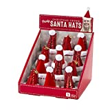 Talking Tables Mini Santa Christmas Party Hats, Red & White, Pack Of 24