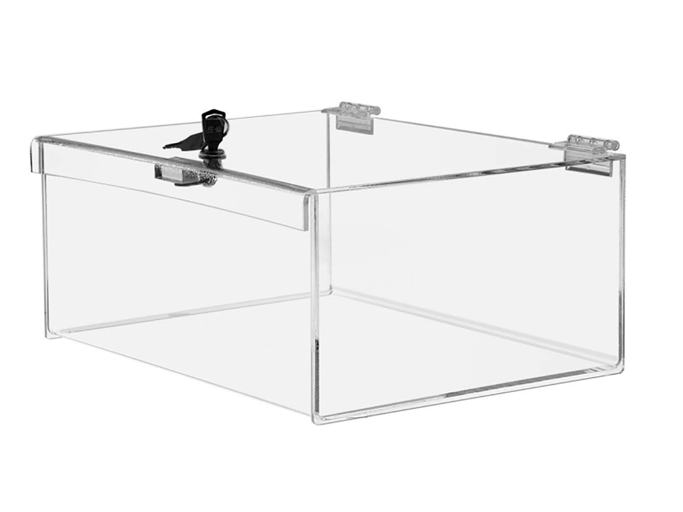 Marketing Holders Locking Case Security Show Case Safe Box Display Valuables Keep Safe 12''w x 9''d x 5''h Qty 1