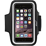 iPhone 6 plus Armband,iPhone 6s plus Armband,by Ailun,Feartured with Sport Scratch-Resistant Material,Slim Lightweight,Dual Arm-Size Slots,Sweat Resistant&Key Pocket,with Headphone Ports[Black]