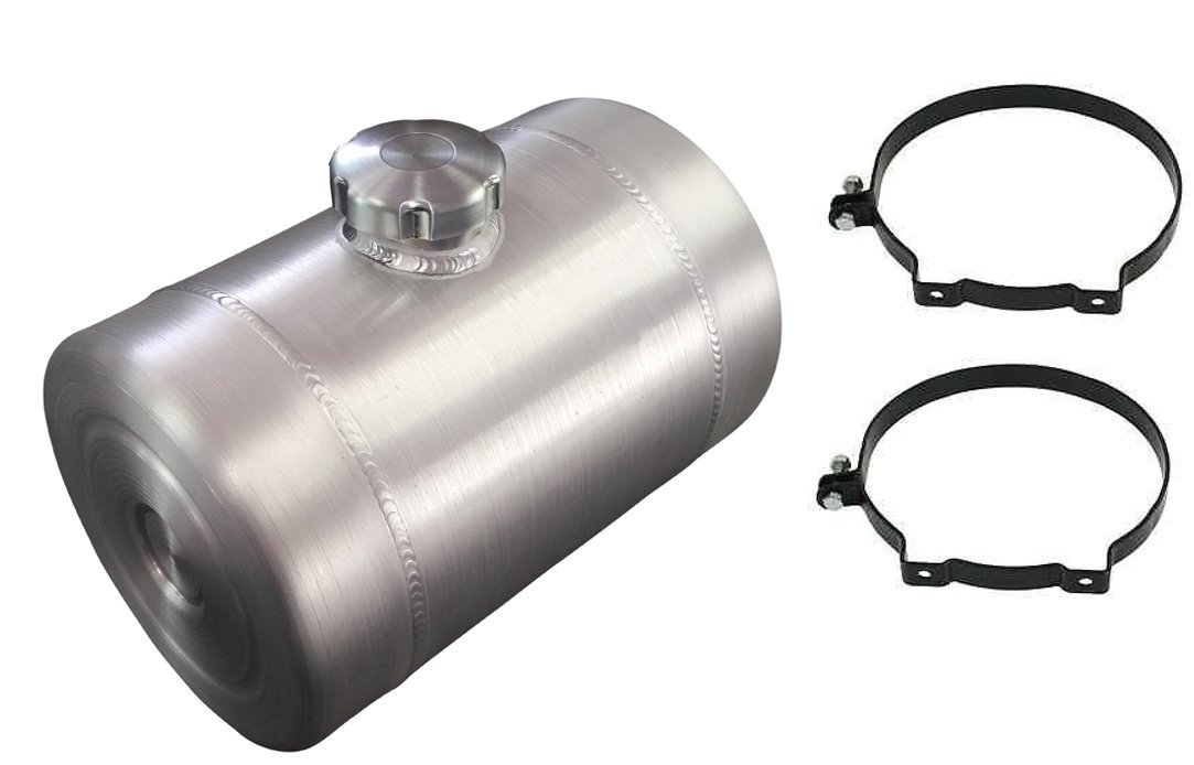 8x10 Center Fill Spun Aluminum Gas Tank - 2 Gallon - 1/4 NPT - Offroad - Tractor pulling - Dune Buggy - Sandrail - Trike - Made in the USA!