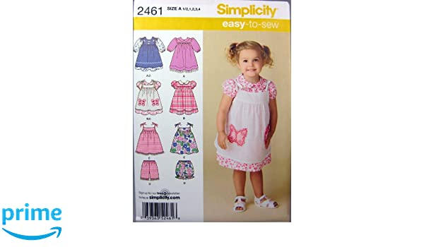 Simplicity 2461 - Patrones de costura para vestidos de niñas (varias tallas): Amazon.es: Hogar