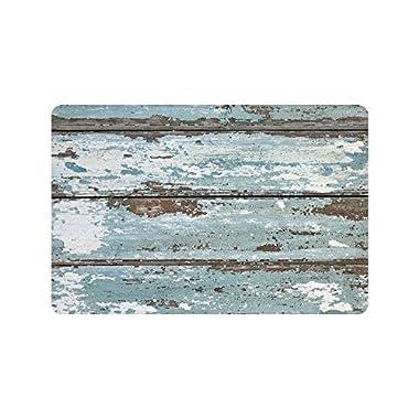 InterestPrint Rustic Old Barn Wood Non Slip Indoor/Outdoor Doormat Floor Mat Home Decor, Entrance Rug Rubber Backing 23.6 (L) x 15.7 (W)