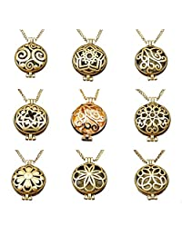 GraceAngie Bulk Sale 9pcs Aromatherapy Enssential Oil Diffuser Necklace Locket Pendants Gift
