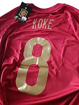 Camiseta R. KOKE Mundial Selección Española Original RFEF (XL ...