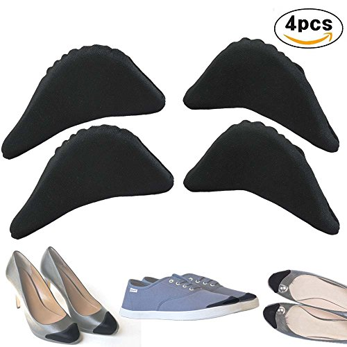 Dress Flat Heel - Shoe Fillers Sizers Inserts Shoesizers For Shoes That Are Too Big For men and women - High Heels, Flats, Dress Shoes (Black)