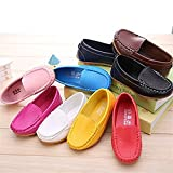 SOFMUO Boys Girls Leather Loafers Slip-On Oxford