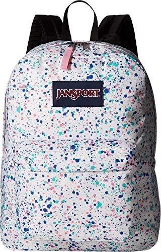 JanSport Unisex SuperBreak Splatter Dot White One Size (Best Backpacks For Girls)