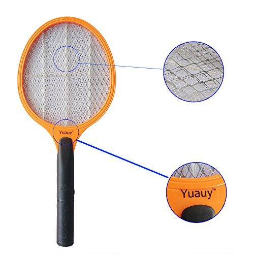 Yuauy Orange Handheld Electric Mosquito Bug Fly Zapper Ra...
