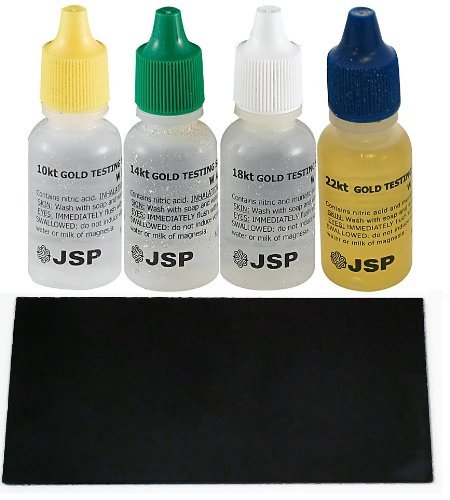 Gold Testing Solutions Kit 10k 14k 18k 22k Scratch Stone