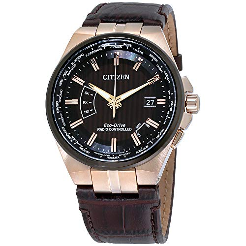 Citizen Watches Men's CB0168-08E Eco-Drive Brown One Size