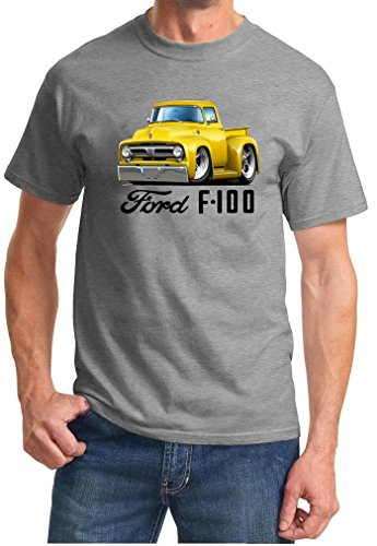 1953 Ford F100 F-100 Pickup Truck Full Color Design Tshirt 3XL Grey ()