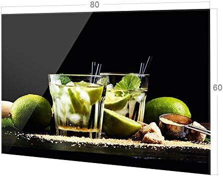 K/üchenr/ückwand Glas Cocktail Caipirinha GRAZDesign Nischenr/ückwand Schwarz 100x50cm K/üche Glasr/ückwand Cocktailbar