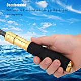 Cheap Fishing Rod Handle Kit Multi-function Metal Fishing Rod EVA Handle Grip for DIY Rods Change Fishing Pole Replacement (Gold)