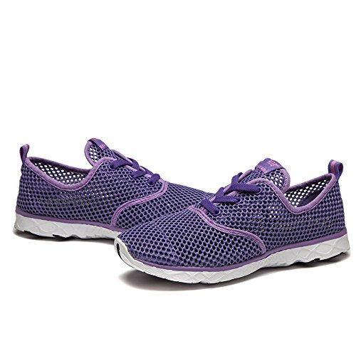 83f984761562e5 NDB Women's Mesh Lace-Up Quick Drying Aqua Water Shoes Breathable  Lightweight Fashion Walking Shoes