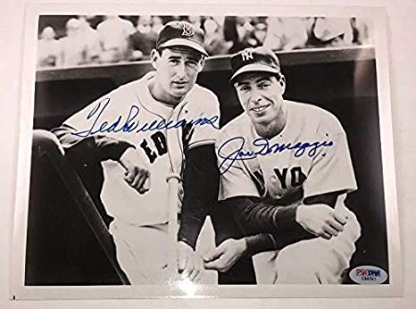 a1e637795be Image Unavailable. Image not available for. Color  Joe Dimaggio Ted  Williams Autographed ...