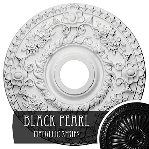 Ceiling Pearl Medallion - Ekena Millwork CM18ROBPS Rose Ceiling Medallion Fits Canopies Up to 7 1/4