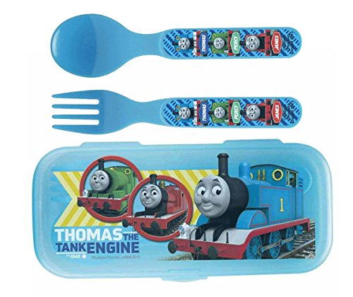 - Zak! Thomas The Tank Engiene Flatware Set for Kids Toddlers (3 Pc: Spoon, Fork, Travel Case)