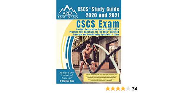 Cscs Study Guide 2020 And 2021 Cscs Exam Content Description Booklet 2020 2021 And Practice Test Questions For The Nsca Certified Strength And Conditioning Specialist Exam 3rd Edition Book Apex Test Prep 9781628458268 Amazon Com Books