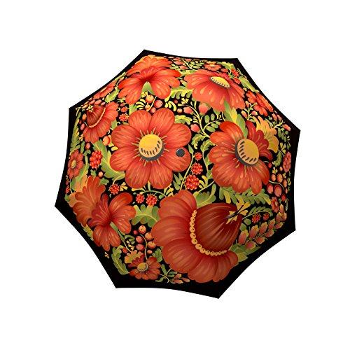 - LA BELLA UMBRELLA Folk Art Designer Unique Art Travel Fashion Umbrella in Stylish Gift Box - Windproof Folding Automatic Open Close