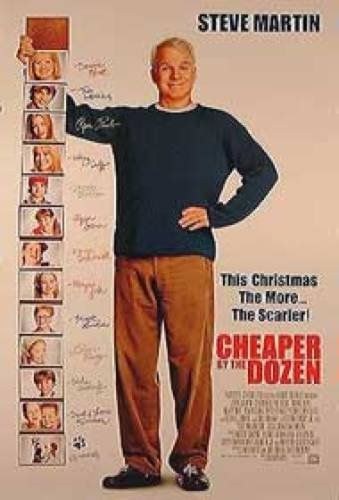 Cheaper By The Dozen Double-Sided Regular Style A 27X40 Steve Martin Hilary Duff Piper Perabo - Duff Style Hilary