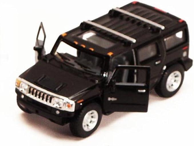 Modellauto SUV Hummer H2 schwarz Sammlermodell ca 1:40 Neuware Kinsmart 2008