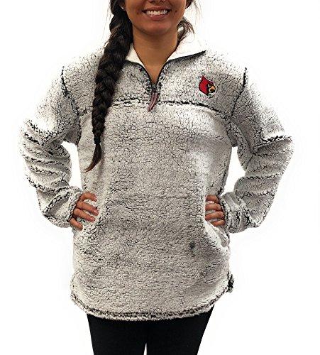Louisville Cardinals Poodle Jacket; 1/4 Zipper University Apparel Clothing