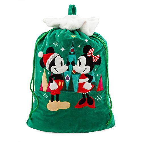 Disney Santa Mickey and Minnie Mouse Holiday Sack